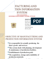 Manufacturing and Production Information System