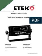 Instruction Manual Weighing Indicator Ti-500 e.en.Es