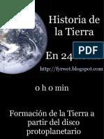 Historia de la Tierra en 24 horas