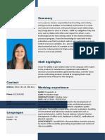 Curriculum Vitae Sandra Viviana Gutierrez
