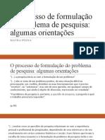 O processo de formulação do problema de pesquisa