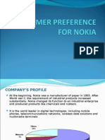CONSUMER PREFERENCE FOR NOKIA