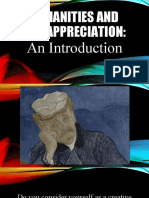 Chapter 1 Humanities and Art Appreciation an Introduction