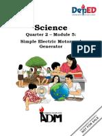 Science10 Q2 Mod5 SimpleElectricMotorAndGenerator V4