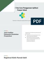 Dokumentasi Tata Cara Penggunaan Aplikasi Paspor Sehat