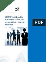 BSBMGT605 Learner Guide