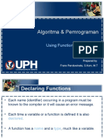 Algoritma & Pemrograman 02 Using Functions and Classes v1.2