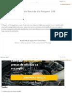 Peugeot 208 - Tabela de Revisão