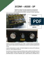 LICOTELECOM MANUAL DE INSTRUÇÕES ATM650 COM CHAVE DE ANTENAS