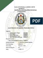 LEY DE SERCICIO DE IMPUESTOS NACIONALES