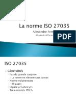 La Norme ISO 27035