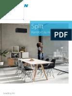 DAIKIN Produktbroschüre Split 2020