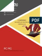 CRIMINOLOGIA CONCEITO, CIENTIFICIDADE, OBJETO, MÉTODO, SISTEMA E FUNÇÕES.