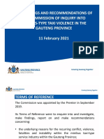 Report of the Commission of Inquiry Into the Minibus Taxi-Type Service