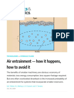 Bubbles and Foam in Hydraulics — how it happens, how to avoid it | Hydraulics & Pneumatics