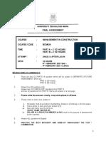 Bcm634 Exam Feb 2021 - Part b