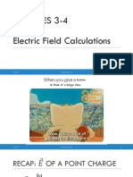 Lecture 3-4 - Electric Field Calculations