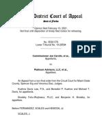 Third DCA Opinion on Carollo v. Platinum Advisors