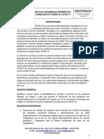 PROTOCOLO MEDIDAS PREVENTIVAS CONTRA EL COVID 19 ASOTRACP