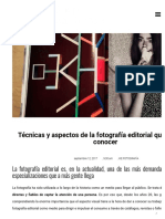 Fotografía editorial_ técnicas y aspectos que deberías conocer