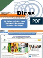 10 melhores dicas para paginas empresas no Linkedin  Portugal