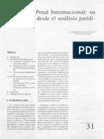 El Tribunal Penal Internacional- su justificación desde el análisis jurídico penal