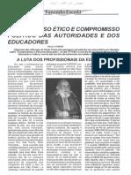 Compromisso ético e compromisso político das autoridades e dos educadores - Paulo Freire