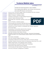 Technical Bulletin Index