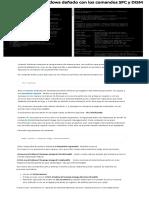 Cómo reparar un Windows dañado con los comandos SFC y DISM