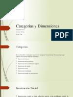 Categorías y Dimensiones