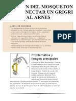 - ELECCION DEL MOSQUETON PARA CONECTAR UN GRIGRI AL ARNES