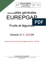 Eurepgap Gr Fp v2-1oct04 Update 09sep05 Fr