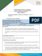 Guía de actividades y rúbrica de evaluación - Unidad 2 - Fase 2 - Desarrollo Infancia y Adolescencia