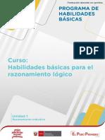 Habilidades Basicas Del Razonamiento Logico Matematico Ccesa007