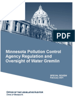 Minnesota Pollution Control Agency Regulation and Oversight of Water Gremlin