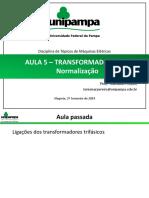Aula 5 - Transformadores  - Normalzação