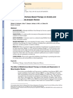The Effect of Mindfulness-Based Therapy on Anxiety and Depression a Meta-Analytic Review