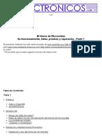 El horno de microondas - Funcionamiento, prueba y reparación (parte 1)