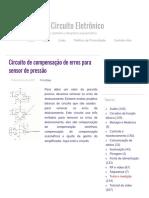 Circuito de compensação de erro para sensor de pressão - Diagrama de circuito eletrônico