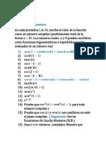 Funciones  trigonométricas e hiperbólicas
