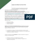 Políticas de tecnologías de software de Check Point