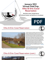 WCAS January 2021 Virtual Field Trip to Ohio & Erie Canal Reservation Digital Scrapbook