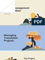 Project Management in Translation