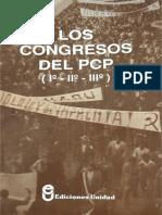 Los Congresos del PCP  (I -  II - III