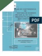 PLAN DE CONTINGENCIA  CAMARA DE BOMBEO NV. 1200 SC. (1)