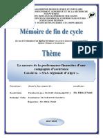 Memoire Fin d'Etude La Mesure de La Performance Financière d'Une