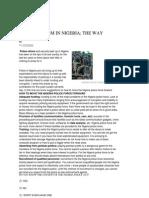 POLICE REFORM IN NIGERIA - THE WAY FORWARD