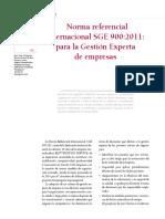 Silo.tips Norma Referencial Internacional Sge 9002011 Para La Gestion Experta de Empresas