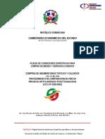 CP 001-2018 PLIEGO COMPARACION DE TEXTIL CCP-2018-0001
