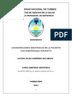 monografia sobe anestesia en mujeres embarazadas con hemorragias periparto